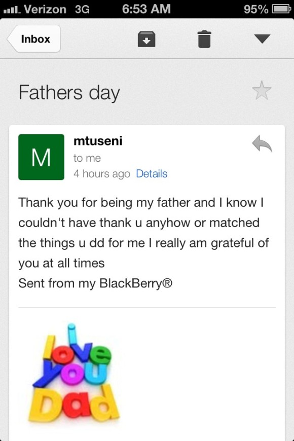 Father's Day Email