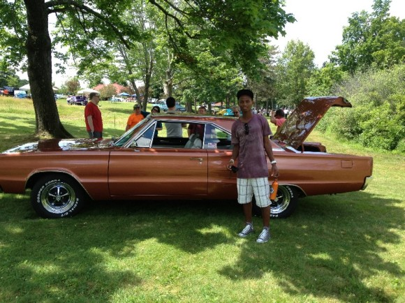 Bowing to his obsession and taking him to a huge classic car show -- and seeing the '75 Camaro that was the joy of my early 20s and the '66 Impala that took our family to the beach.