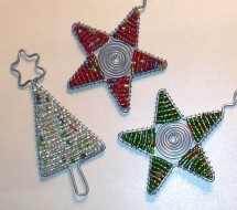 Cape Town+Christmas+ornament+craft+beads