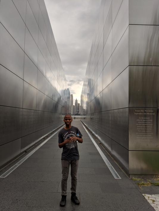 empty sky 9-11 memorial in new jersey