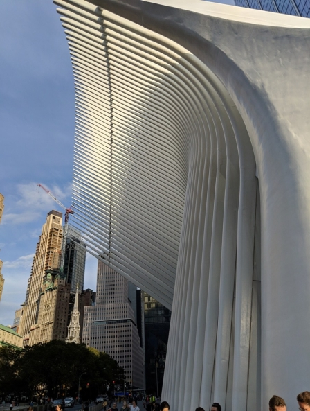 outside wing of oculus in manhattan