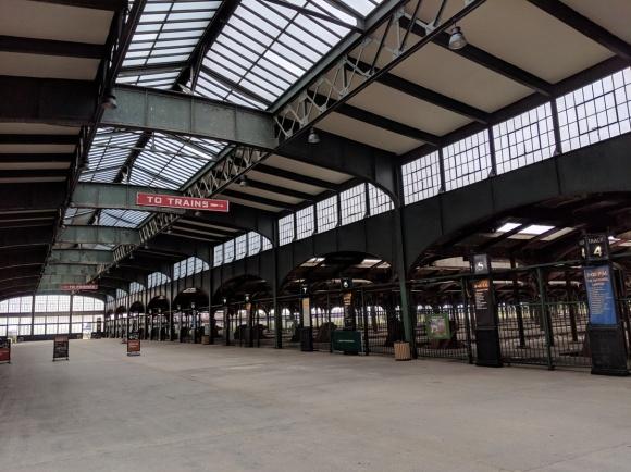 train station roof