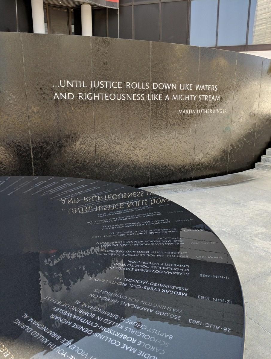 Civil Rights Memorial in Montgomery Alabama