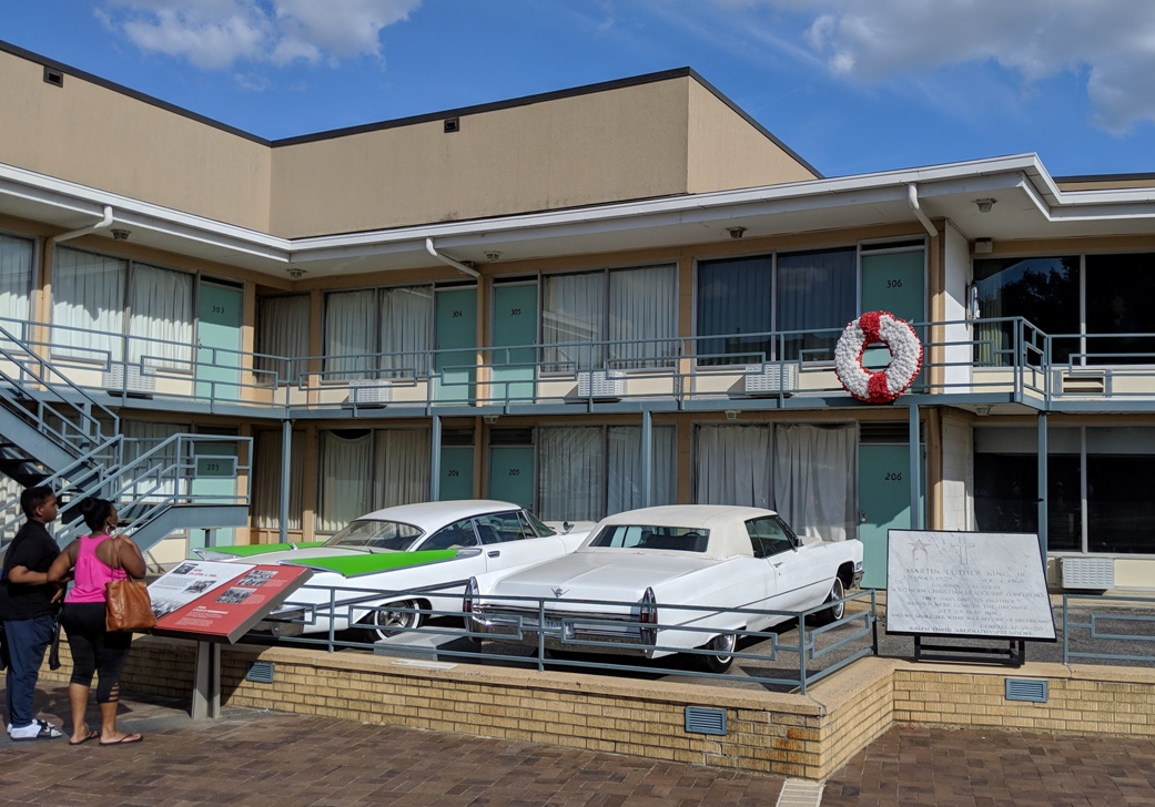 Balcony at Lorraine Motel, in Memphis Tennessee