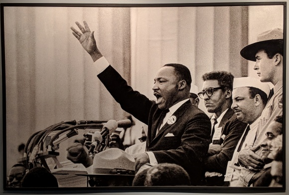 Martin Luther King Jr speaking at the March on Washington in 1963
