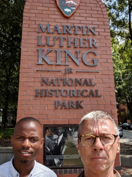 Martin Luther King Junior National Historical Park sign