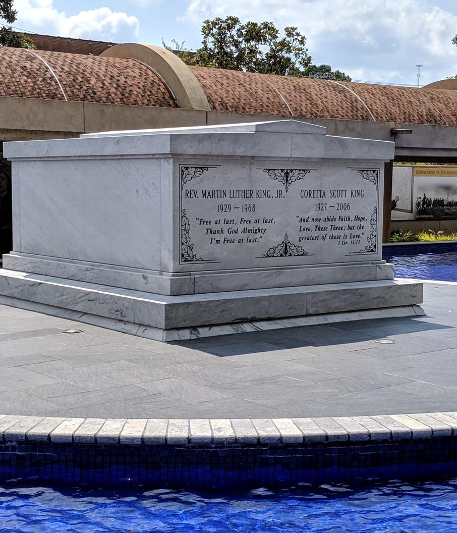 Tomb of Martin Luther King Junior and Coretta Scott King in Atlanta, Georgia