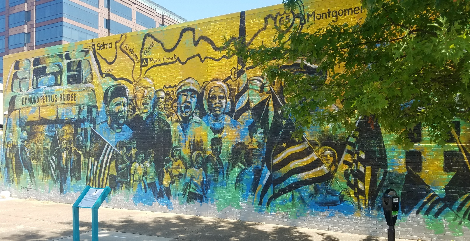 """""""A Mighty Walk from Selma"""" mural in Montgomery, Alabama"""