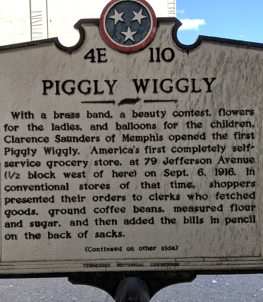 Piggly Wiggly historical sign in Memphis