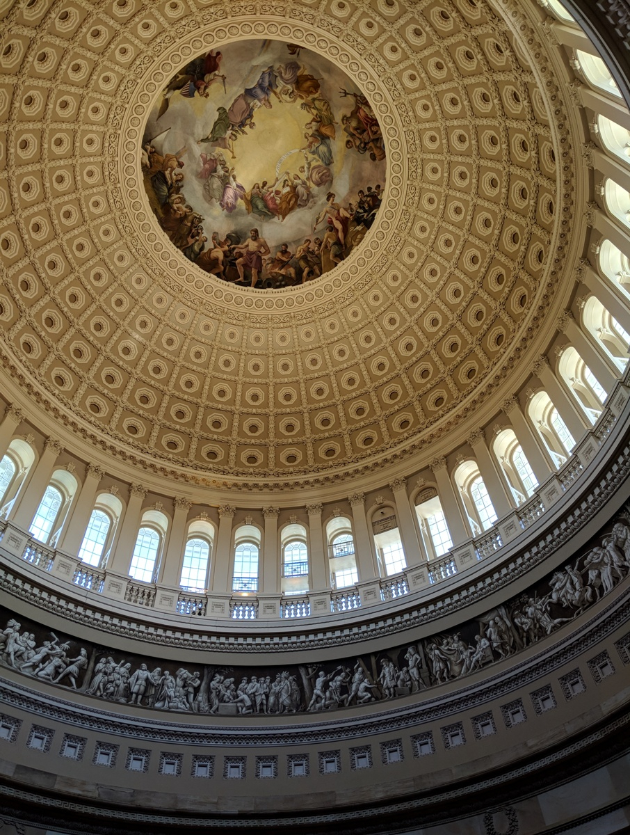 U.S. Congress rotunda dome inside in Washington DC