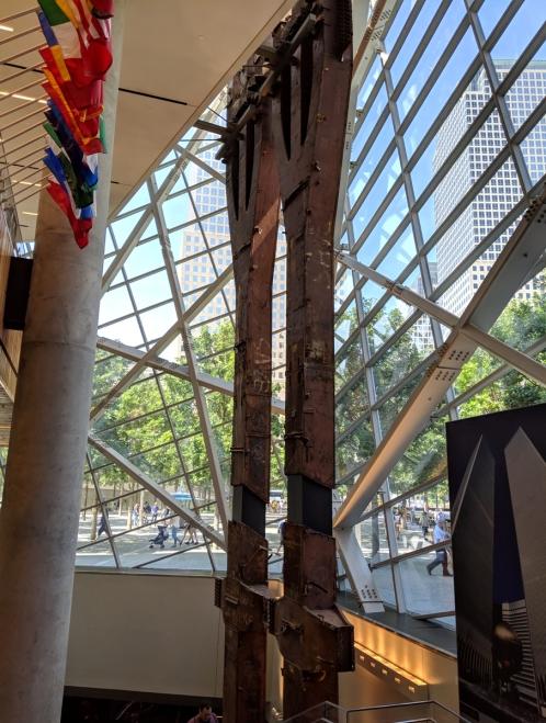 New Work World Trade Center tower trident girders