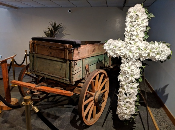 Wagon that carried Martin Luther King Junior's coffin.