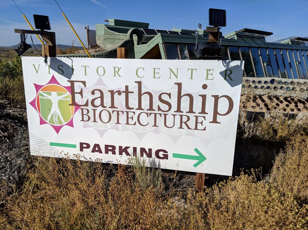 earthship sign