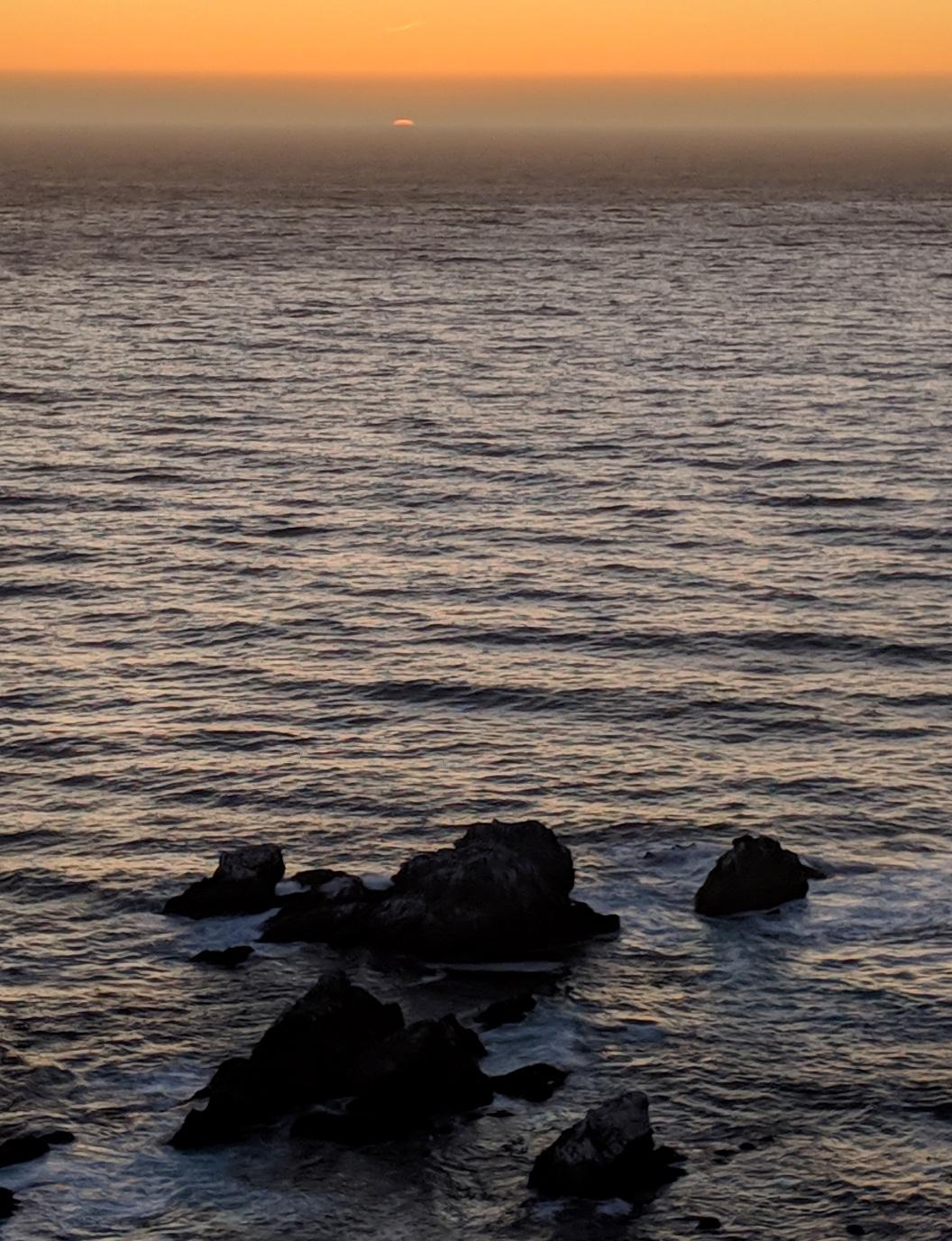 big sur sunset clean